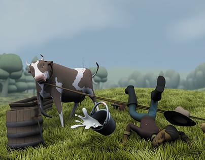 Jacinto y la vaca