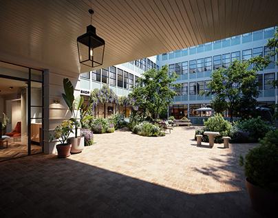 Le Grand Quartier Garden - CGI