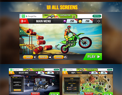 Dirt Bike Game UI