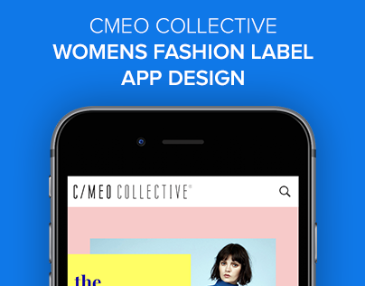 CMEO Collective Online Fashion Shopping App Design
