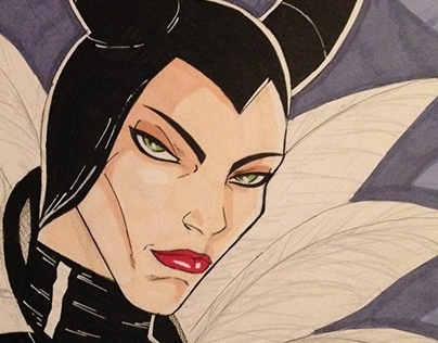 Quick drawing of Malificent