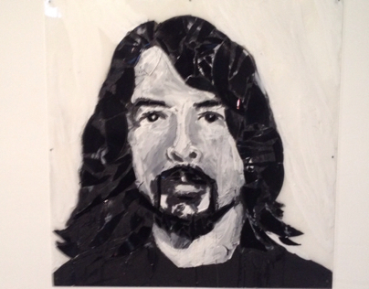 Dave Grohl record portrait.
