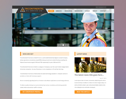 TriContinental Oil & Gas Company - Landing Page