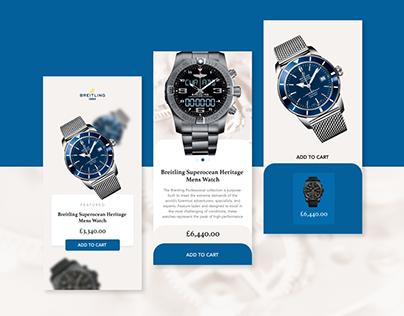 Breitling Watch App Concept ⌚