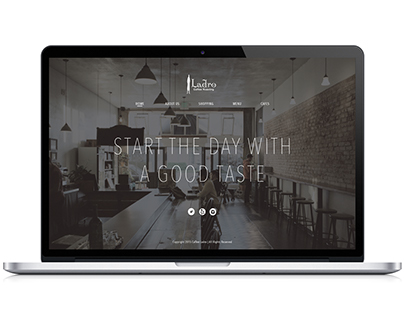 Re design Ladro Coffee website and mobile app