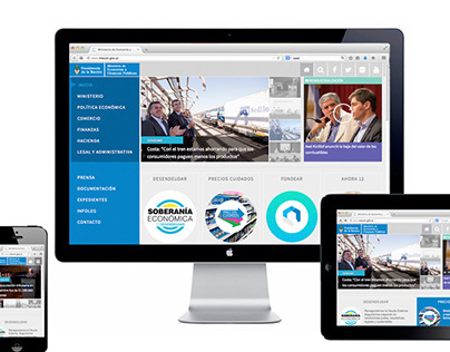 Redesign for Ministry of Economy web site