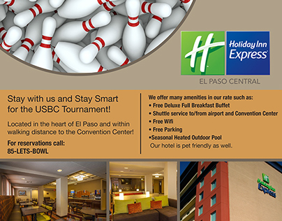 Holiday Inn Bowling Tournament Ad