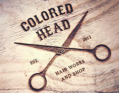 Colored head branding & website