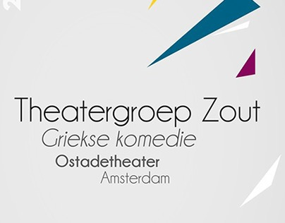 Theatergroep ZOUT - Flyer