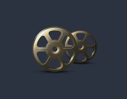 FREE vintage vector film roll icon