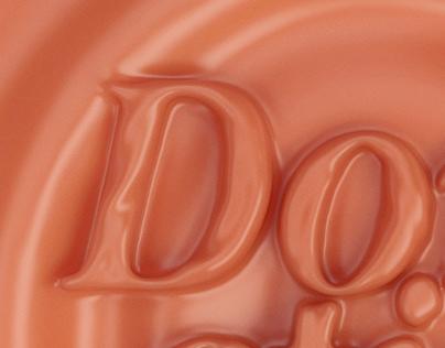 3D logo Don't Stick - Chocolate bar