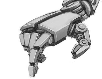 Mechanical hand drawing