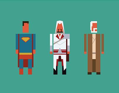 Minimalistic characters
