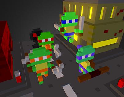 Teenage Mutant Ninja Turtles 3D Diorama