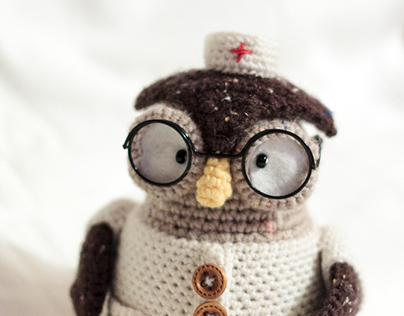 Crochet Dr. Wise owlet