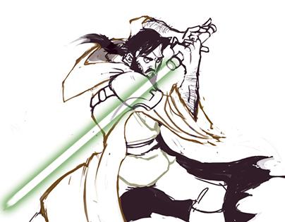 Jedi Knight Speed-Painting