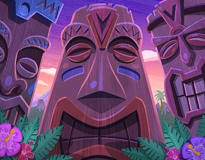 GREE Jackpot Slots Tiki Tiki Mula Hula Mini Game