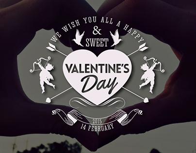 Valentine's Day Logo Badges & Labels