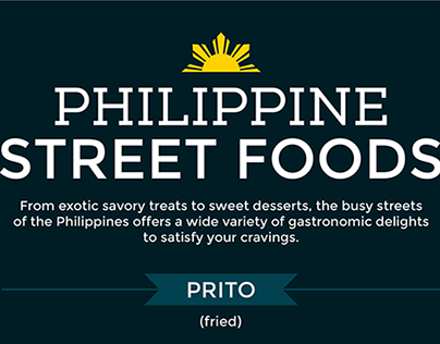 Filipino Street Foods (Infographic)