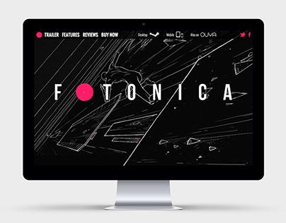 Fotonica game promotion website