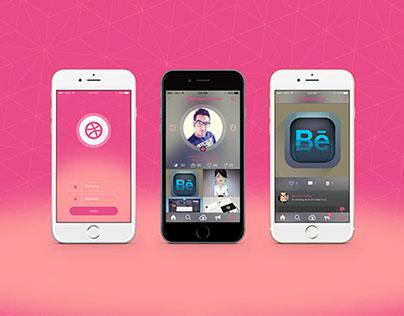 Redesign Dribbble iOS 8 App