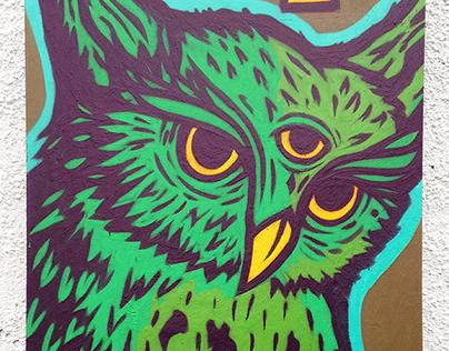 Sacred Owl Canvas. 2015