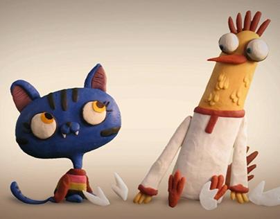 Stills from Cat and Chicken