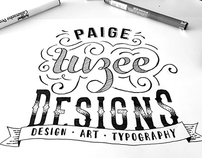Paige Tuzee Designs Typography