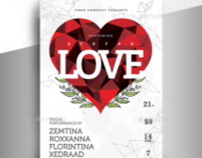 Valentine Party Flyer - Minimalistic
