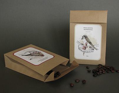 Illustration set for coffee labels.