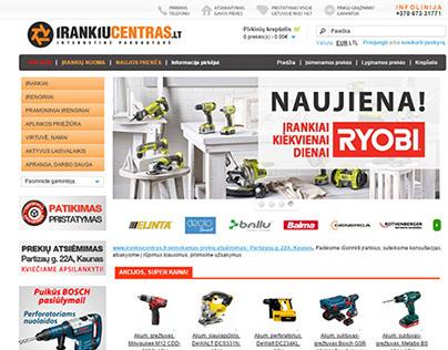 Web design for power tools e-shop