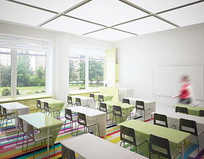 Kaunas P. Mašiota primary school. Design conception