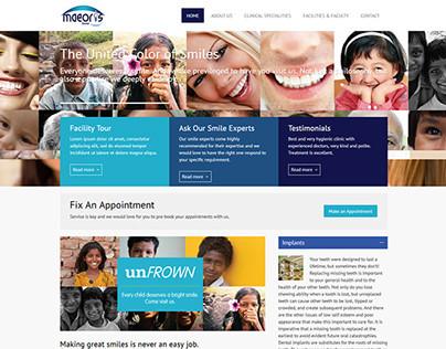 Maeoris Dental Web Design