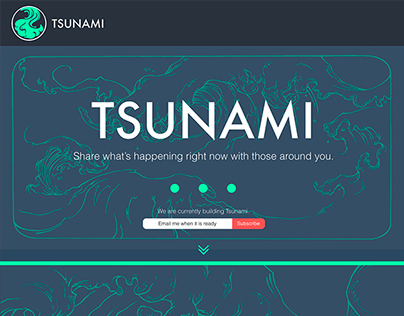 Tsunami Landing Page & Branding