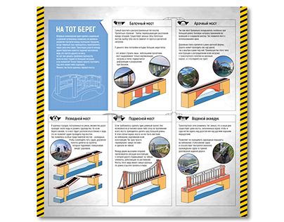 """Infographic stand """"Bridges"""" forExperimentanium"""