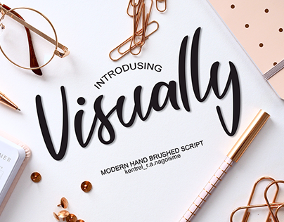 Visually Script font