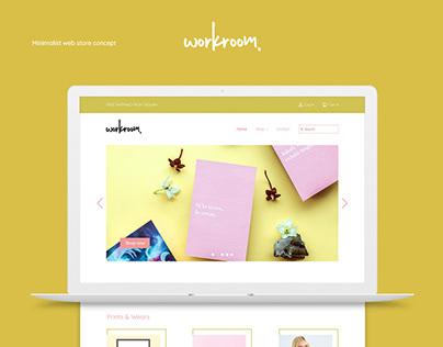 Web Store design concept