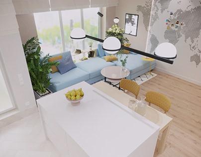 Interior Design of Apartment in Magnolia, Lviv