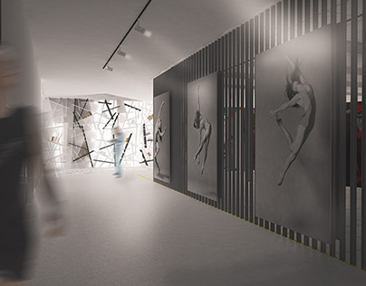 Conception of Modern Art Gallery