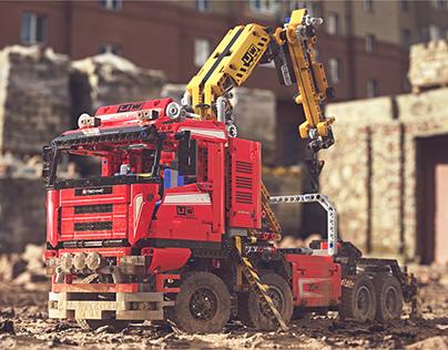 LEGO Crane Truck 8258 CGI
