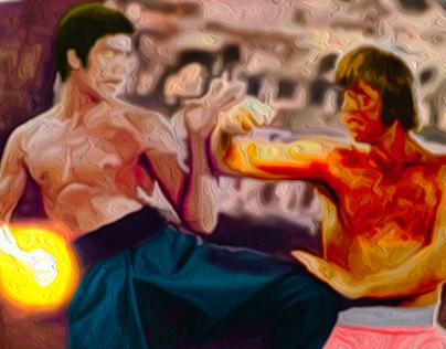Bruce Lee Oil Painting