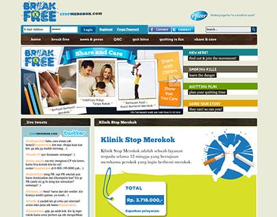 Stop merokok website