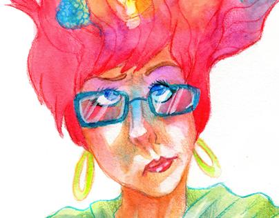 Illustrative Self Portrait