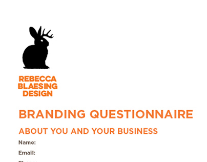 Logo design questionnaire