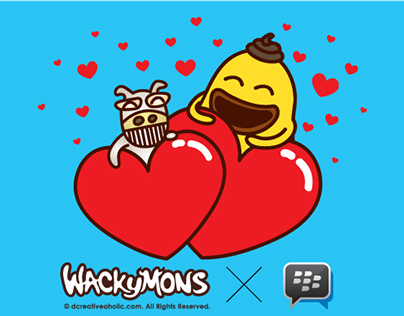 Wackymons X BBM Blackberry Messenger