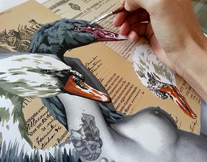 "VinZ ""Swan Lake"" - Limited Edition Screen Print"