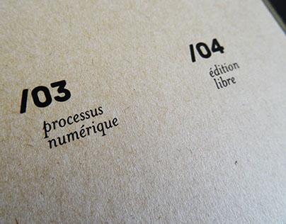 Objet imprimé / Recherches