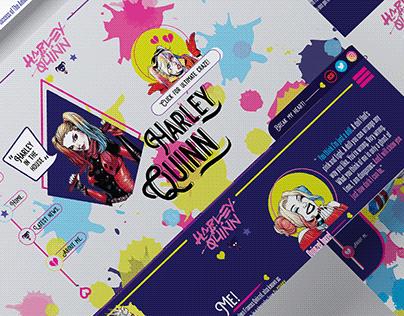 Harley Quinn Website Concept