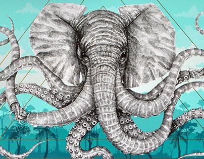 "Alexis Diaz ""Octophant"" - Screen Print"