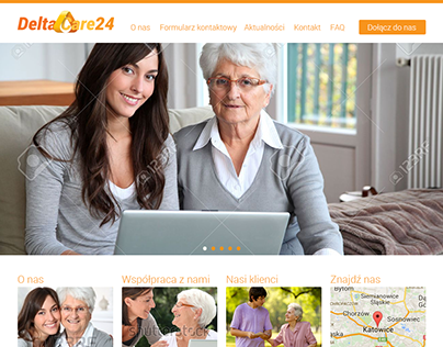 Delta Care24 website, logo and stationery